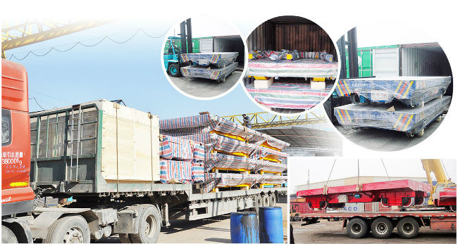 Steel Cast Material Electric Warehouse Transport Trolley