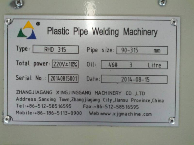 HDPE Pipe Welding Machine/HDPE Pipe Fusion Machine/HDPE Pipe Jointing Machine/Butt Welding Machine/HDPE Elbow Welding Machine/Butt Welder Machine