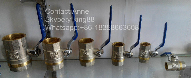 1/2-4 Nickel Plated Plumbing Brass Ball Control Valve for Valve (YD-1023)