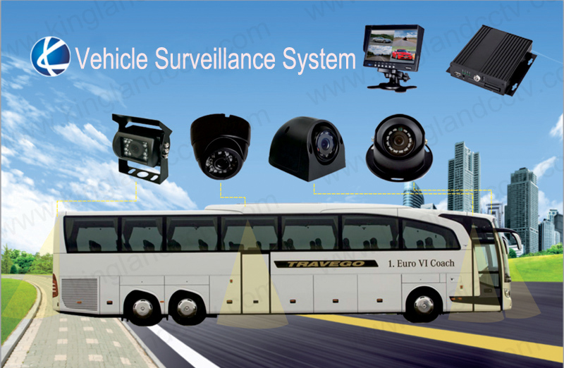 4 Channel 720p HD Bus Mobile DVR with 4G GPS WiFi