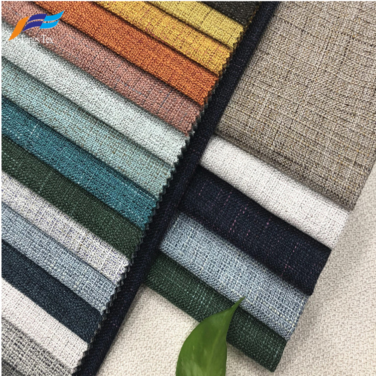 2019 New Design Eco-friendly Upholstery Linen Sofa Fabric 1