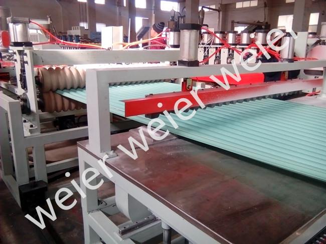 PVC/Pet/PC Wave Plate Corrugated Roof Plastic Extruder Production Line