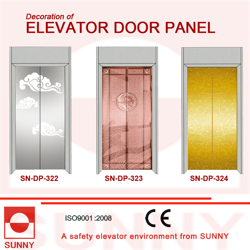 Mirror Stainless Steel Door Panel for Elevator Cabin Decoration (SN-DP-319)