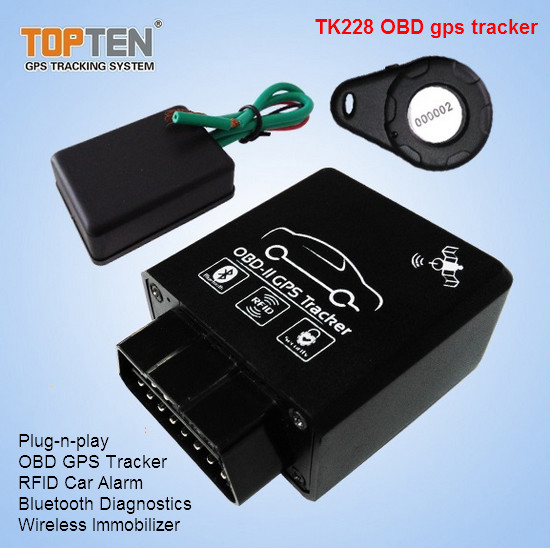 OBD2 GSM Wireless GPS Tracker with RFID and Bluetooth Diagnostics (TK228-WL)