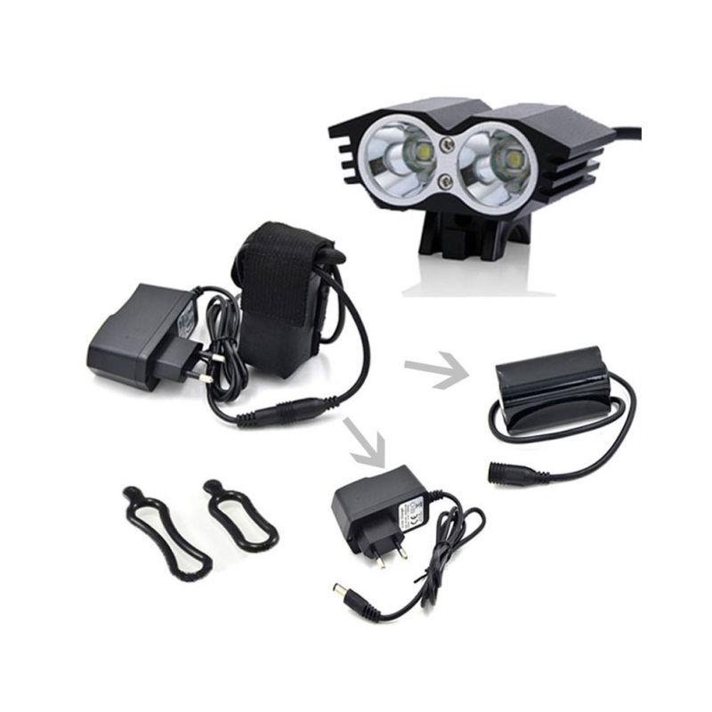 Owl Eye Design 20W 1500lm High Power 2 * CREE Xml T6 Bicycle LED Light