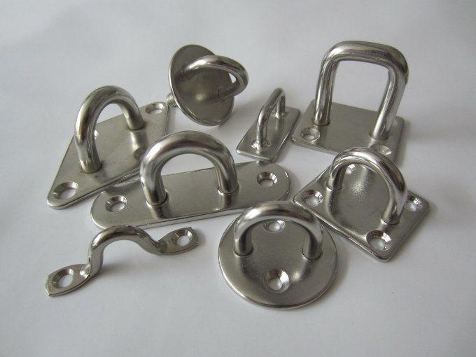 Stainless Steel Hook Eye Bolt Wood Screw, Open Eye Screw