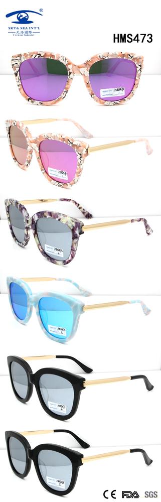 2016 Fashionable Woman New Style Acetate Sunglasses (HMS473)