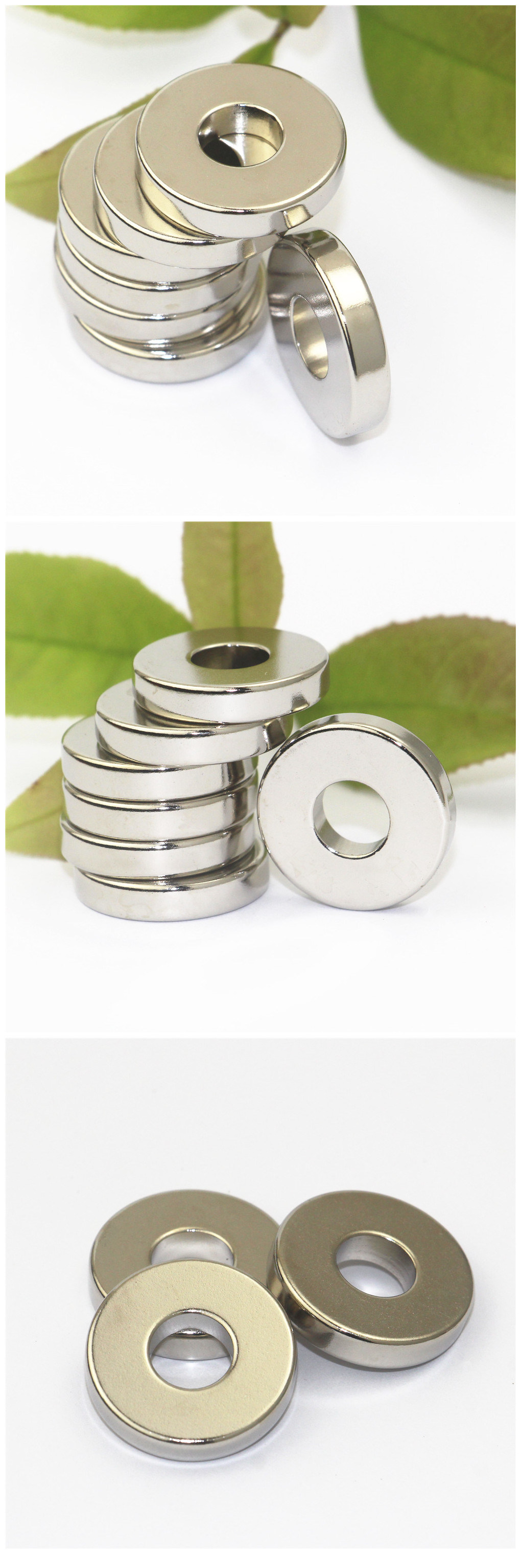 Ring Permanent Neodymium Magnet with Hole Nickel Coating