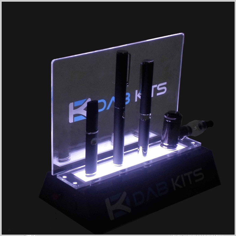 Customized LED Acrylic E Cigarette Display Stand Tobacco Display for Sale