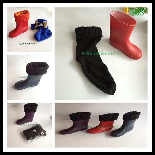 Winter Warm Thickened Kids Fleece Rainshoe Liner Socks in 4 Colors