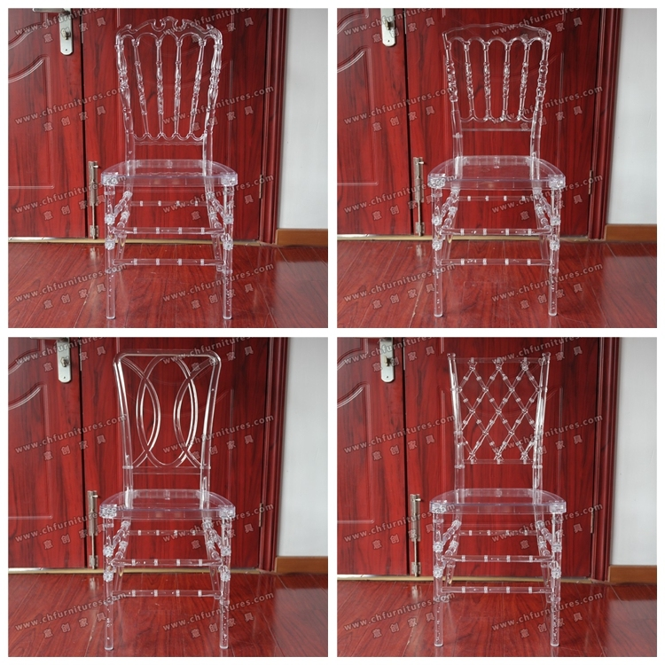 Wholesale Clear Crystal Transparent Resin Plastic Orleans Chair for Wedding and Event and Banquet (YC-P16)