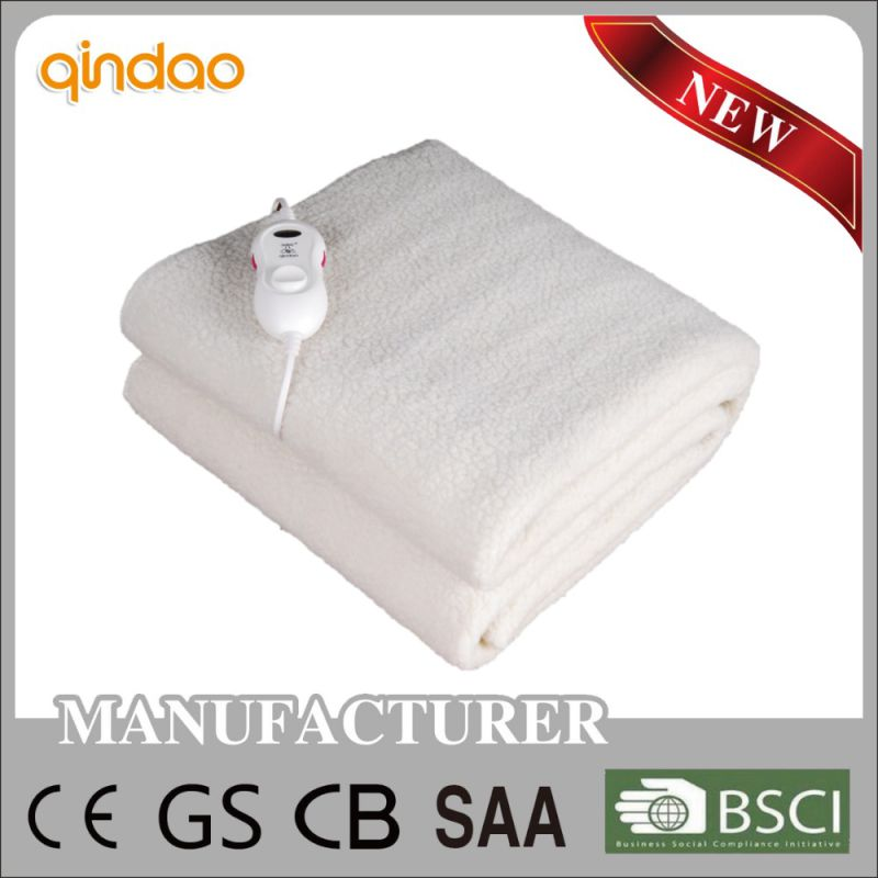 Ce Approved Synthetic Wool Fleece Electric Mattress for EU Market