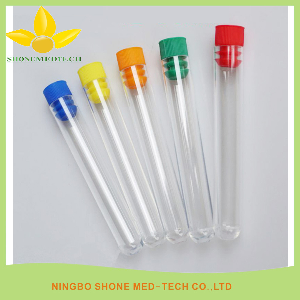 Glass or PS Culture Test Tubes for Lab Use