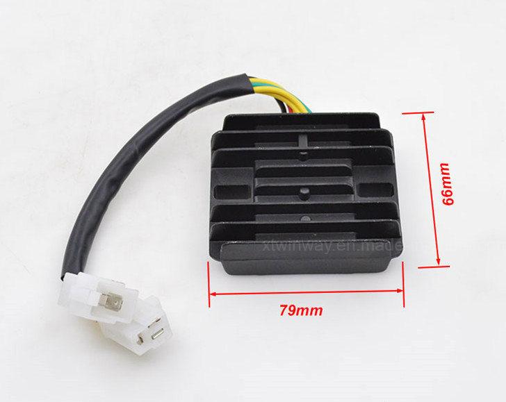 Ww-8203, Cbt125 Motorcycle 6 Wires Voltage Regulator Rectifier