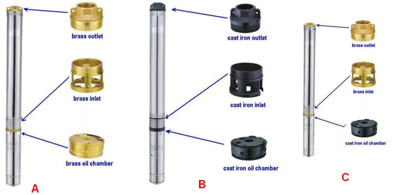 Stainless Steel Deep Well Submersible Pump