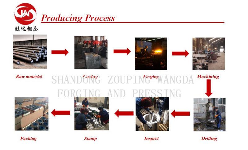 Carbon Steel GOST DIN ANSI Asem Forged Flange