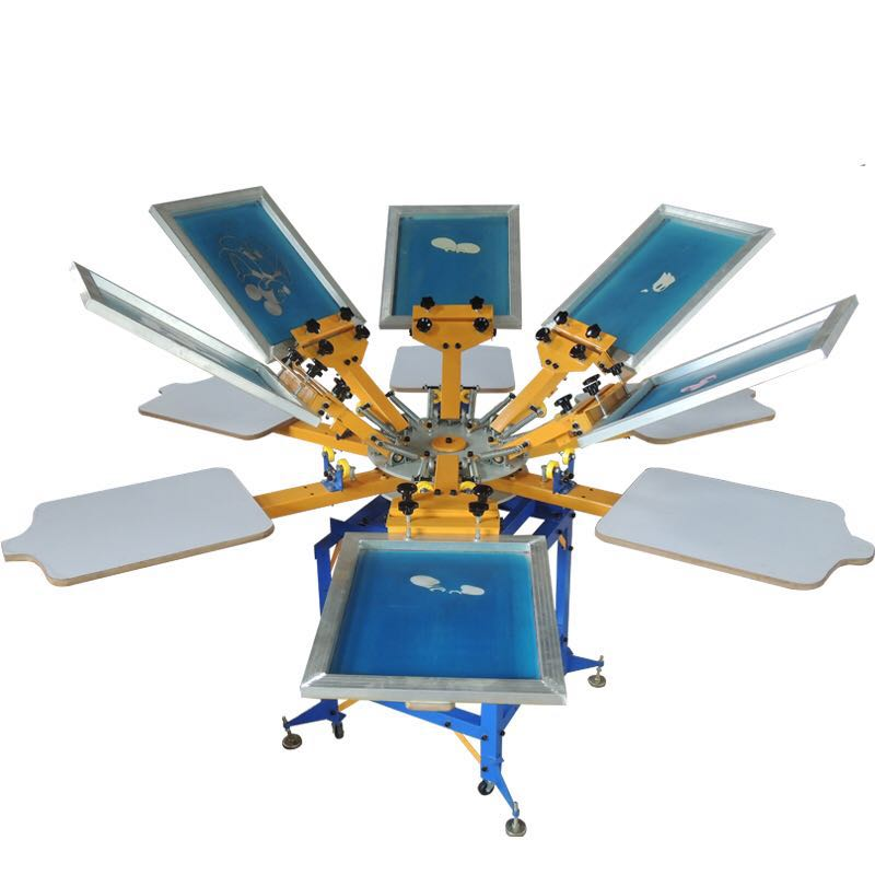 4 Color 4 Station T-Shirt Screen Printing Machine