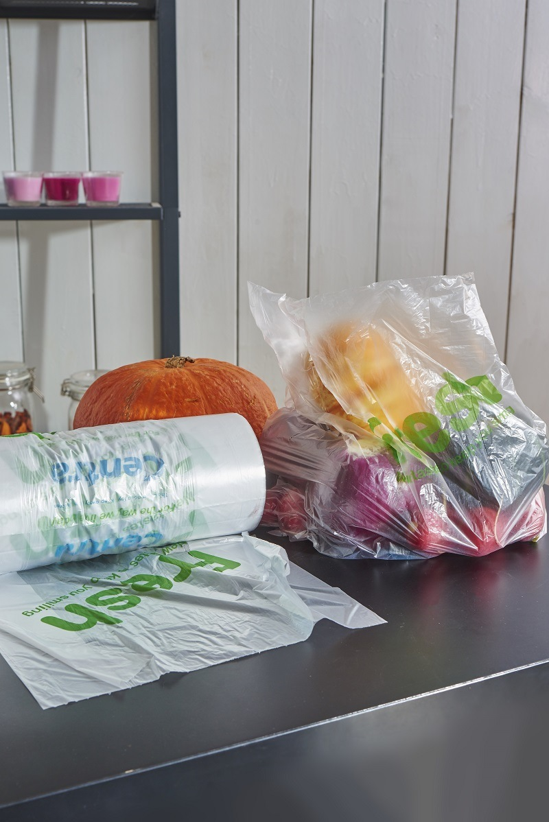 China Wholesale Foldable Trolley Plastic Shopping Bag with Handle
