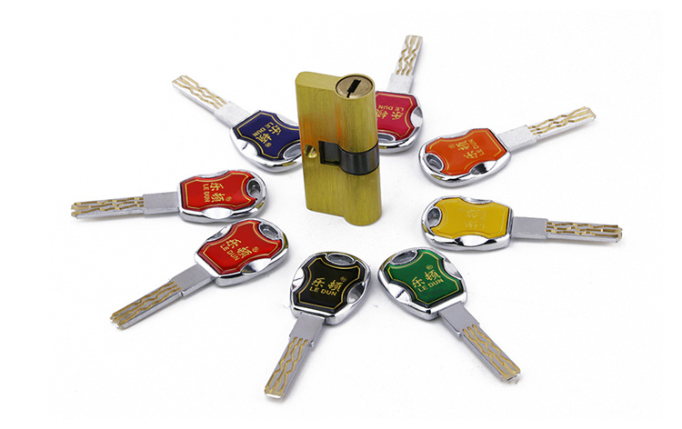 Brass Security Door Safe Blade Mortise Lock Cylinder Core 6 Tracks