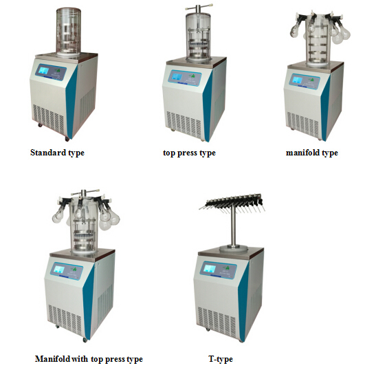 High Quality Small Freeze Dryer for Sale / Vacuum Lyophilizer