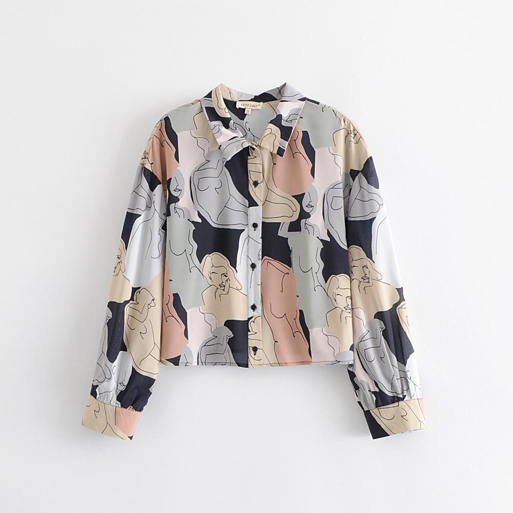 Printed Blouse Long Sleeves