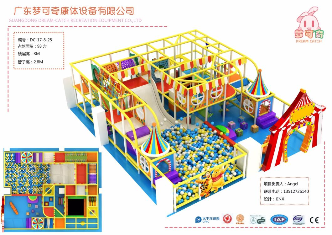 Jungle Theme New Design Baby Indoor Soft Play for Kindergarten
