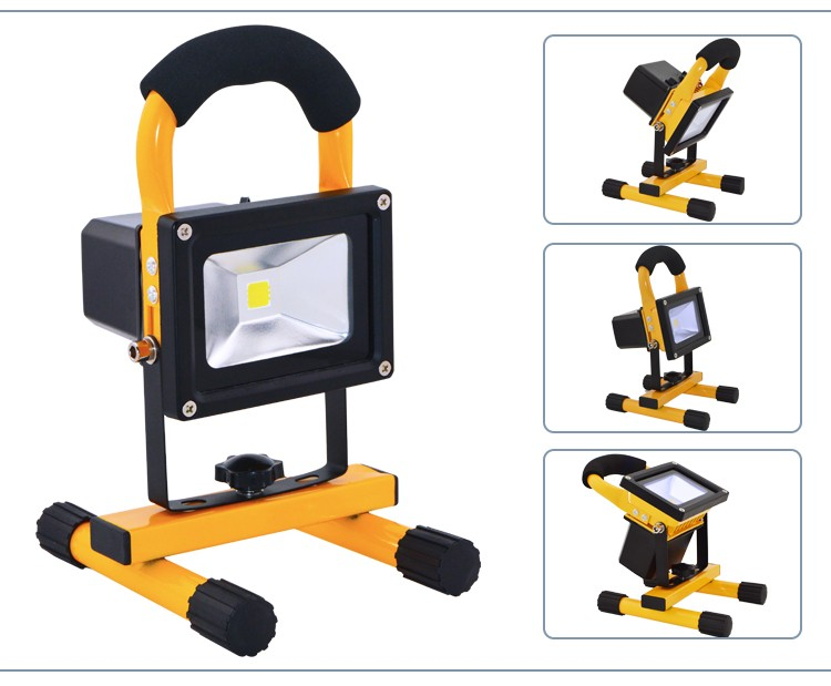 2 Years Warranty Top Quality High Efficiency Portable Rechargeable LED Flood Light 10W