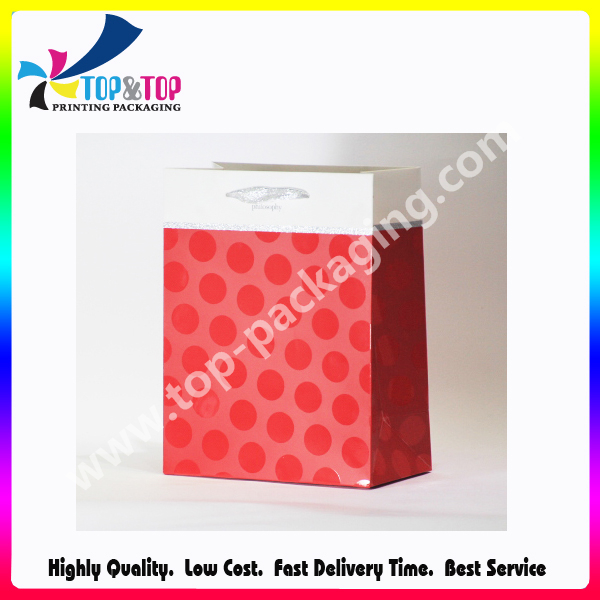 Customized Colorful Clothing Wholesale Coated Flat Paper Bag