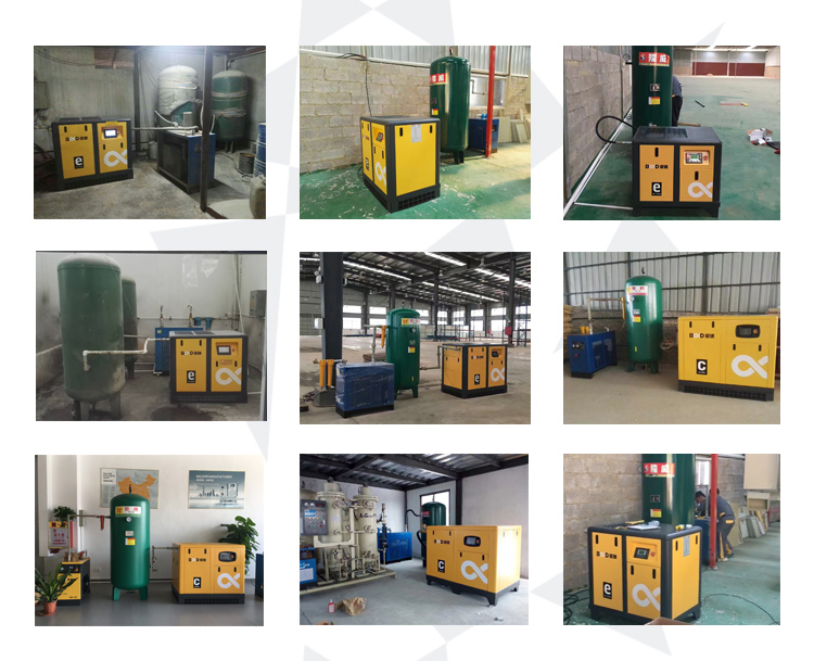 11kw Oil Free Rotary Screw Air Compressor