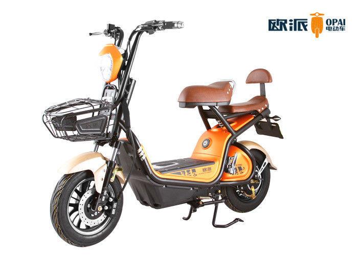 48V 500W14 Inches Motor LED Headlight 3-Speed Electric Bike Long Range Front Basket Disc Brake Tubless Tire