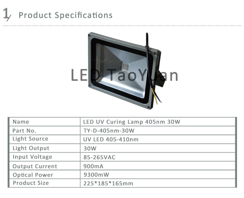 UV Light 365-405nm LED Light 30-50W