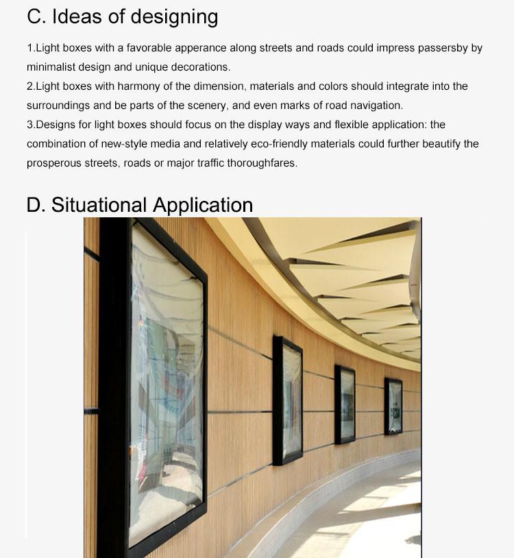 Wall Amonted Scrolling Light Box
