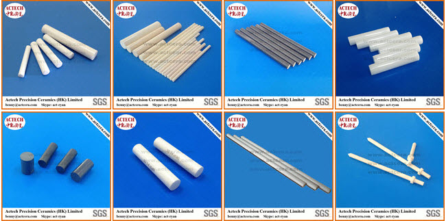 99%/99.5 Al2O3 High Purity Alumina Ceramic Rods and Shafts