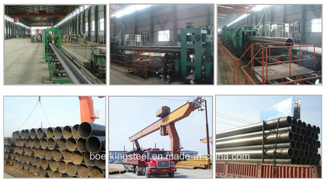 Cold Rolled API 5L Gr. B 3PE, Large Diameter Welded Round Carbon LSAW Steel Pipe for Steel Structure