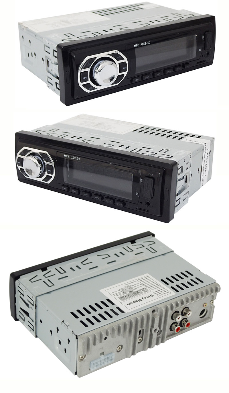 Fixed Panel Car MP3 Player with Big Heatsink