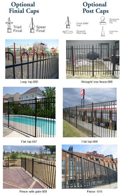 Aluminum Wrought Iron Metal Steel Fence Decorative Backyard Garden Fence