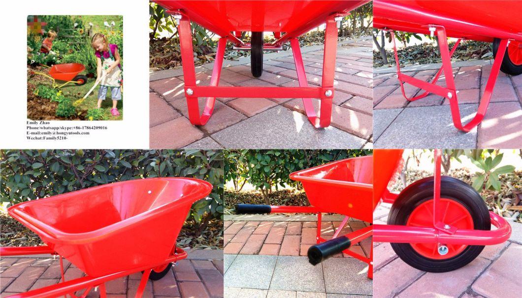 Playing Toy Garden Tool Wheelbarrow for Kids (WB0200)
