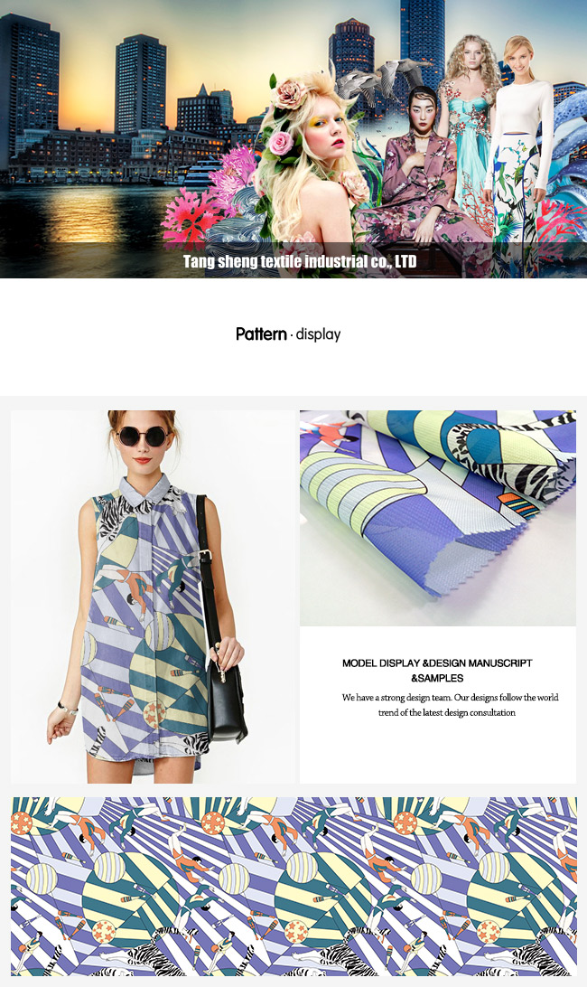 Fashion Polyester Printed Organza Garment & Home Textile Fabroc