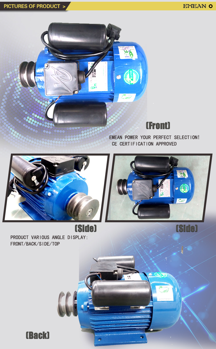 220V 50Hz Top Energy Low/High Speed Yl Single Phase Electric Motor