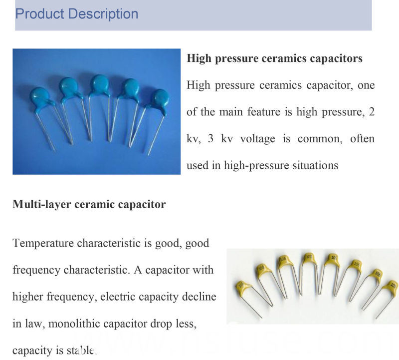 China Best Seller High Quality General Purpose Ceramic Capacitor