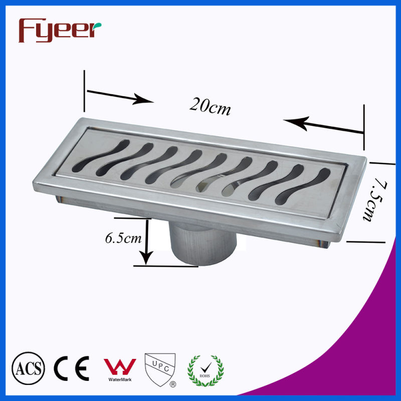 Fyeer Stainless Steel Bathroom Long Linear Floor Drain (FD15020)