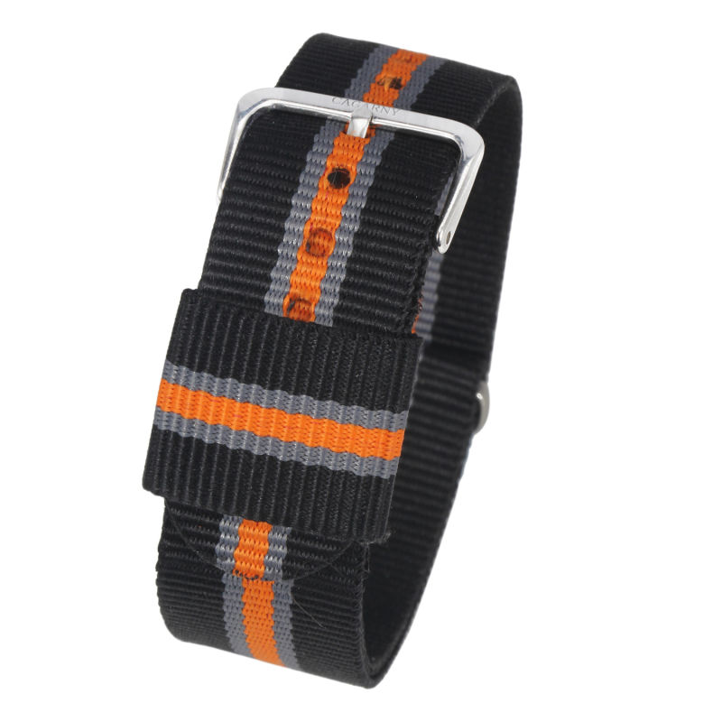 20mm fabric Watch Strap Silver Buckle