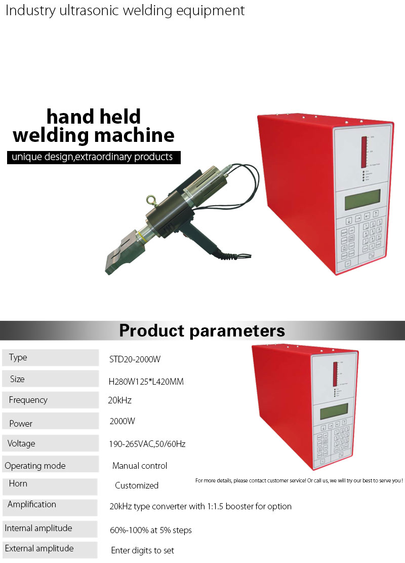 Rinco Ultrasonic Spot Welding Machine with Manual Hand Gun