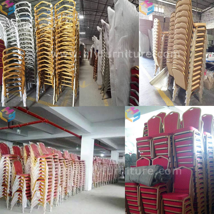 Stacking Aluminum Iron Steel Metal Hotel Wedding Dining Banquet Chair