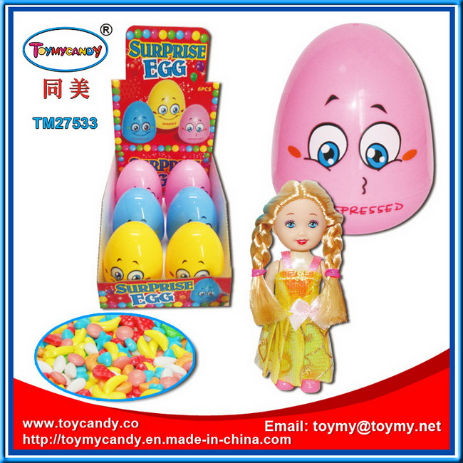 Tumbler Egg Toy with Doll and Candy Inside