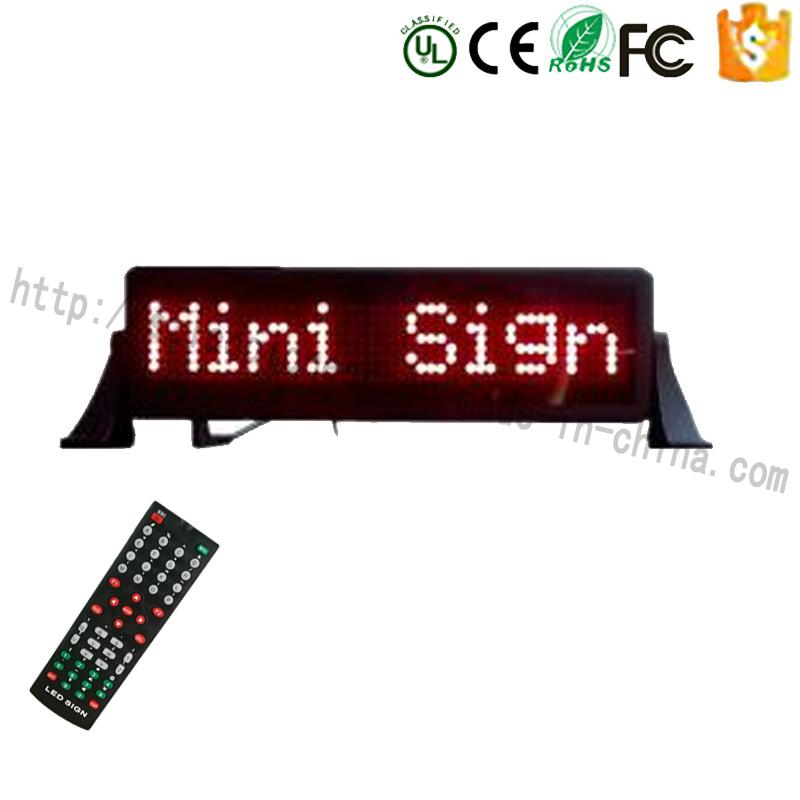 LED Car Sign Red Mini LED Auto Display Board