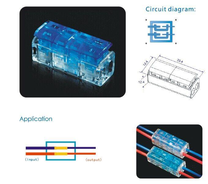 2 Pin to 2 Pin Terminal Blocks and Connectors