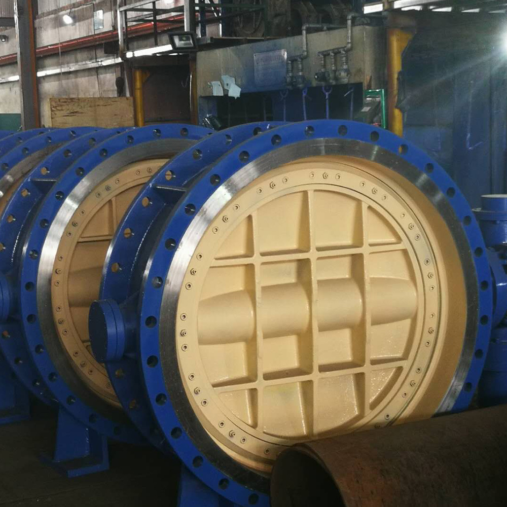 Cast Iron 4 Inch 6 Inch Soft Seal Wafer Type Pneumatic Actuator Butterfly Valve