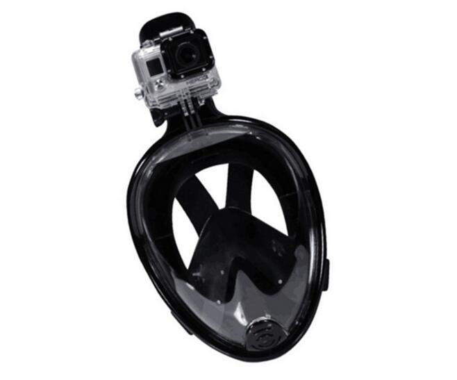 Seaview 180° Panoramic Snorkel Mask- Full Face Design. See More with Larger Viewing Area Than Traditional Masks. Prevents Gag Reflex with Tubeless Design