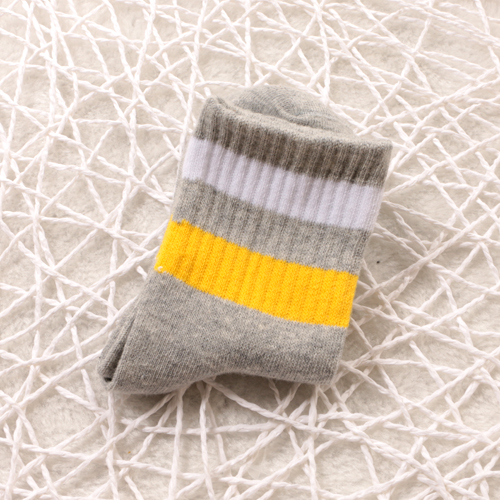 Fashion and Comfortable Two Stripes Designs in The Cuff Boys Cotton Socks